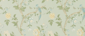 Laura Ashely Summer Palace Eau De Nil Floral Wallpaper